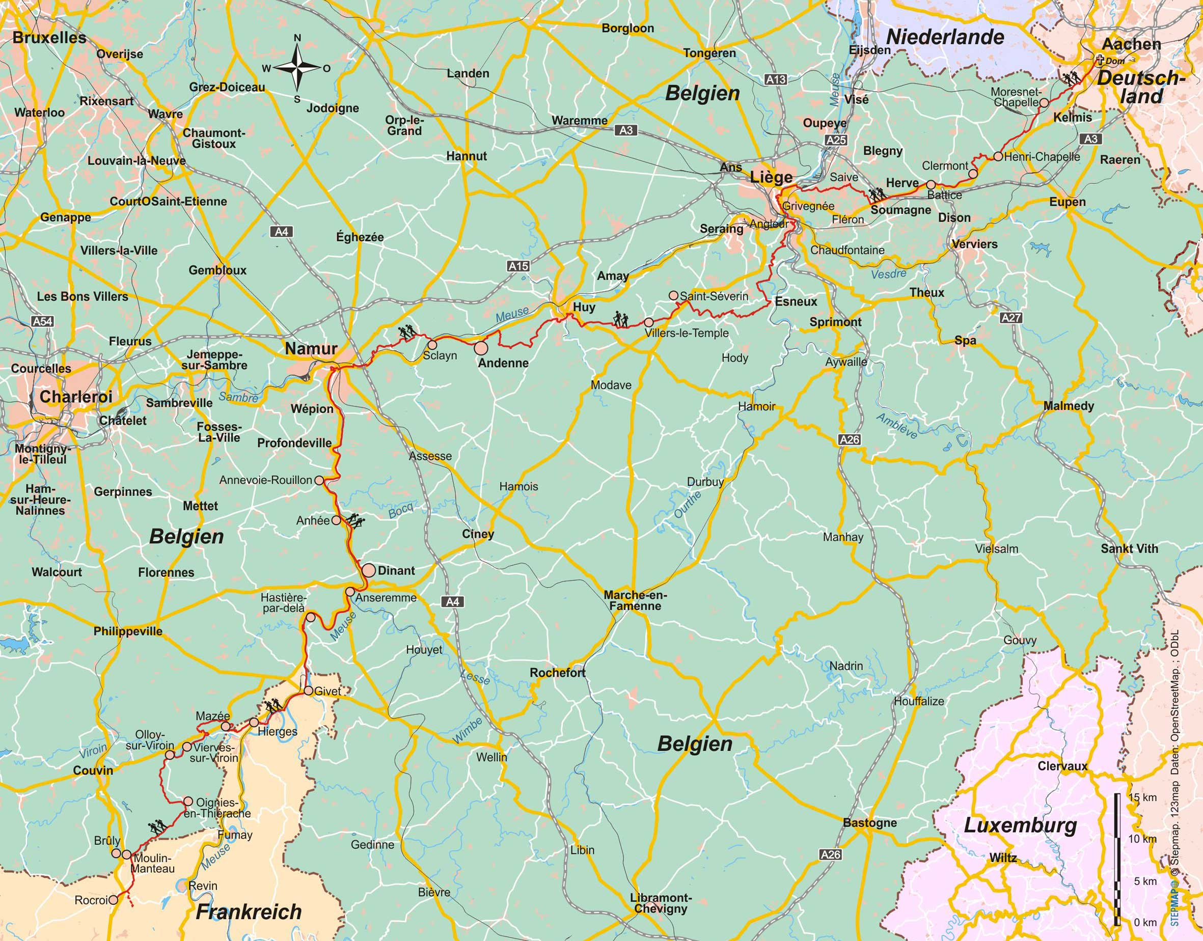 Belgien Jakobsweg Via Mosana Via Monastica Conrad Stein