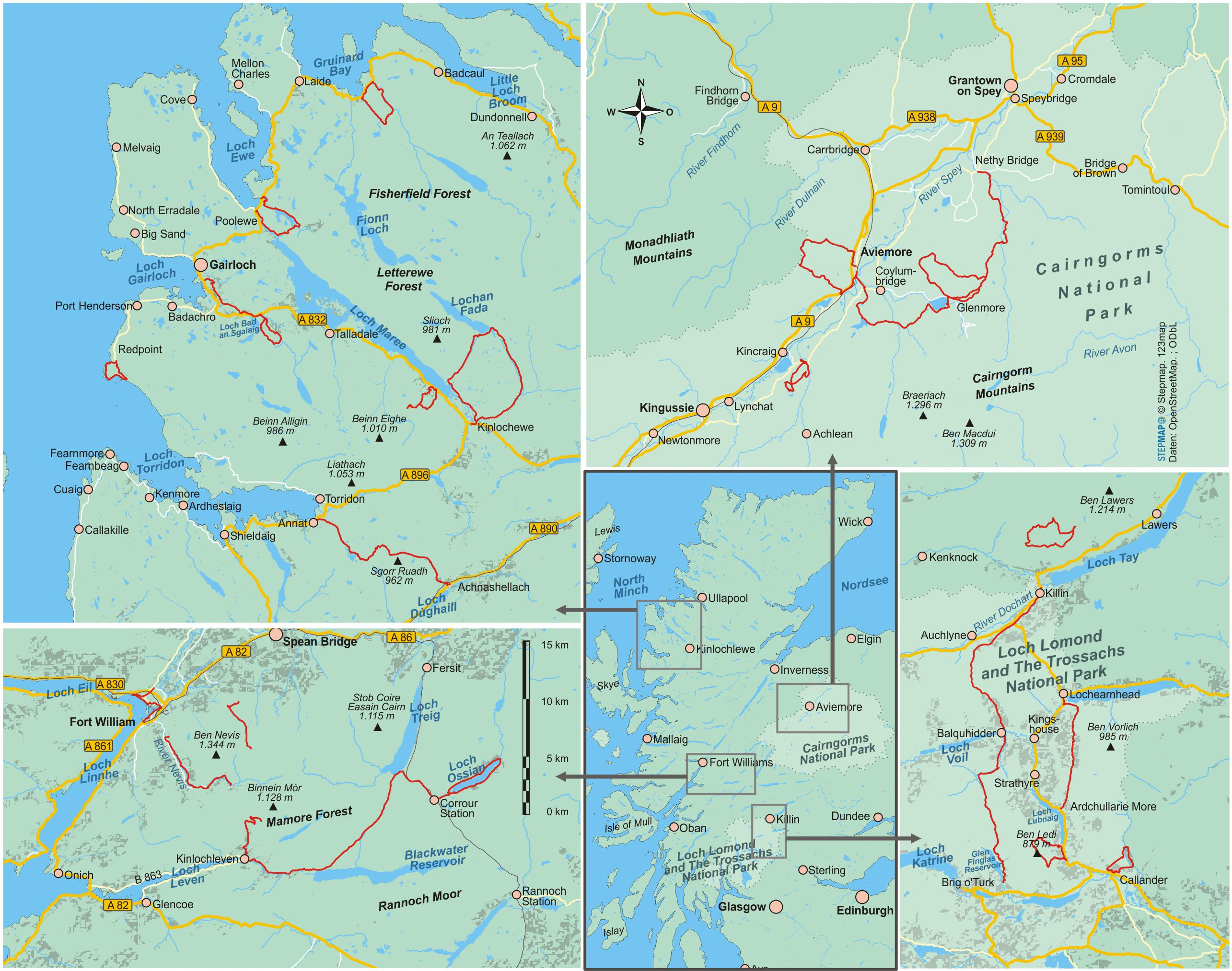 Schottische Highlands (22 Wanderungen)