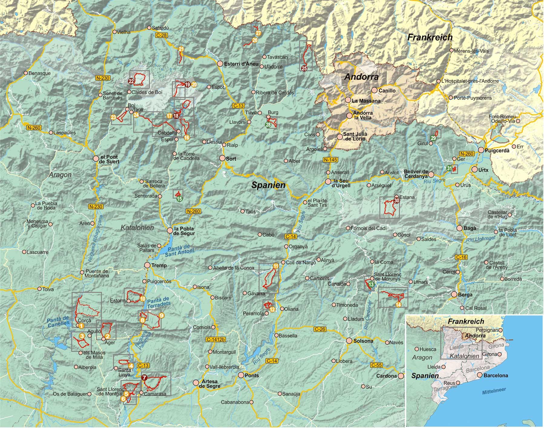 Katalonien 31 Wanderungen Pyrenäen und Vorpyrenäen