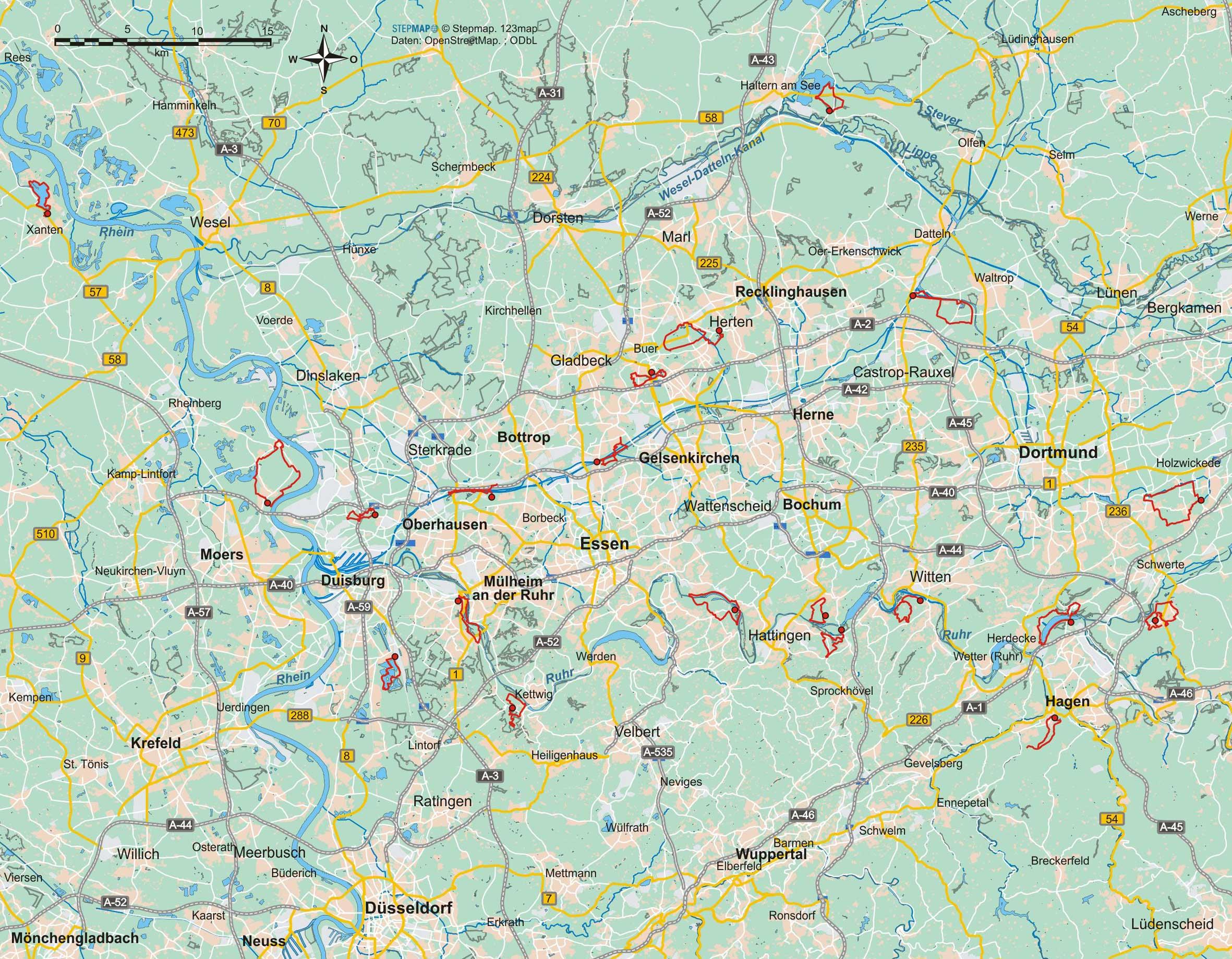 Ruhrgebiet (20 Wanderungen)