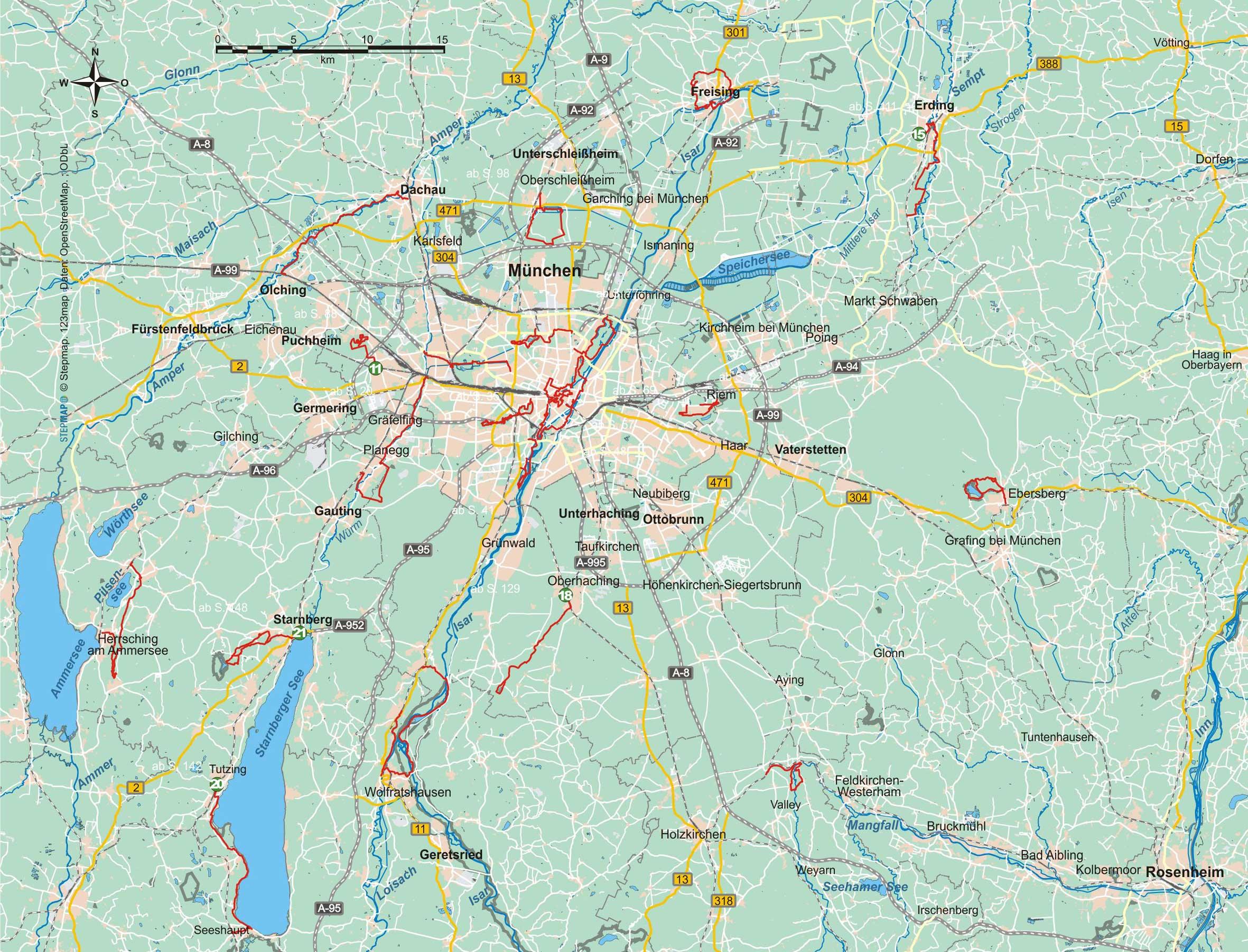 München und Umgebung (22 Wanderungen)