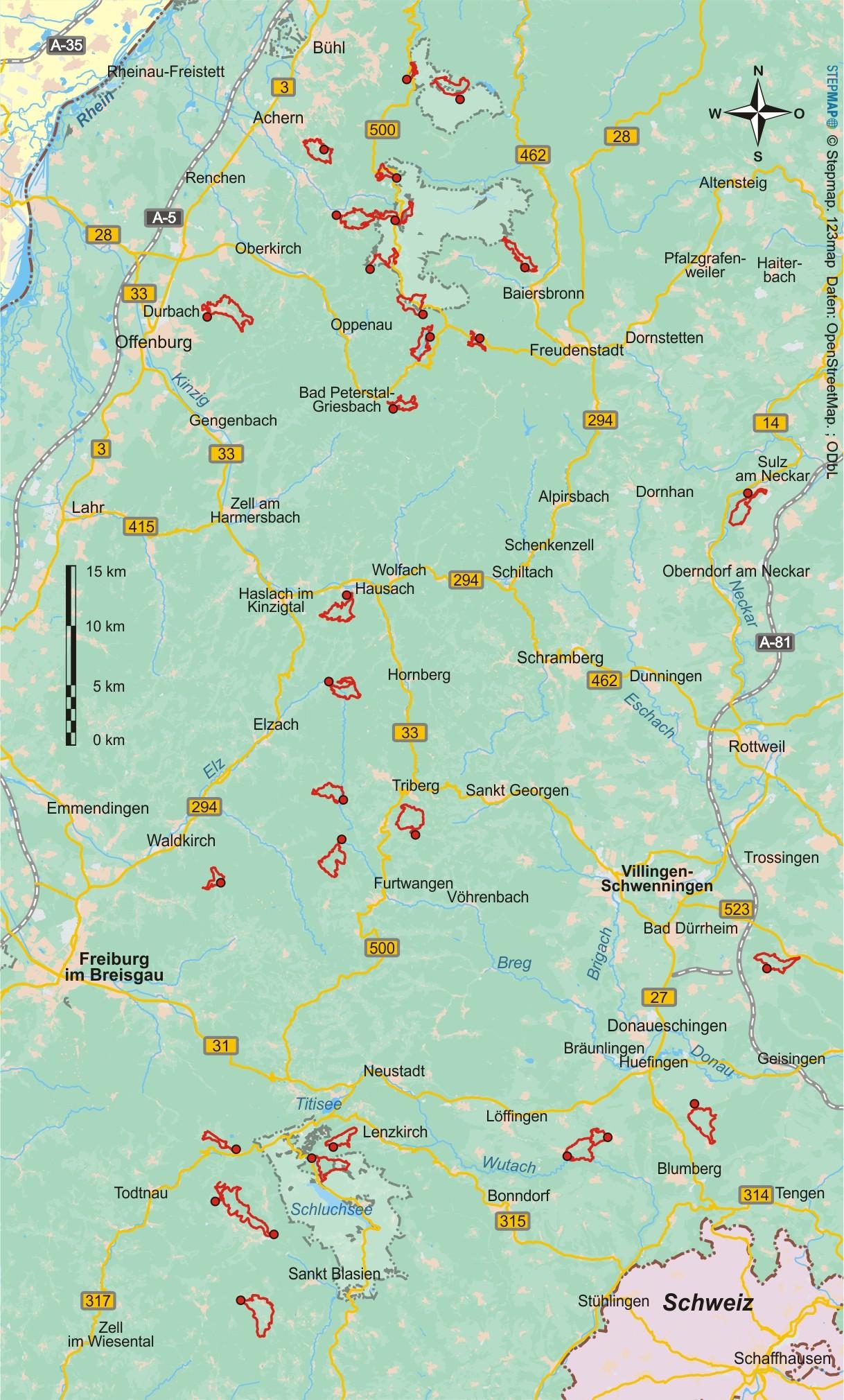 Schwarzwald (32 Wanderungen)