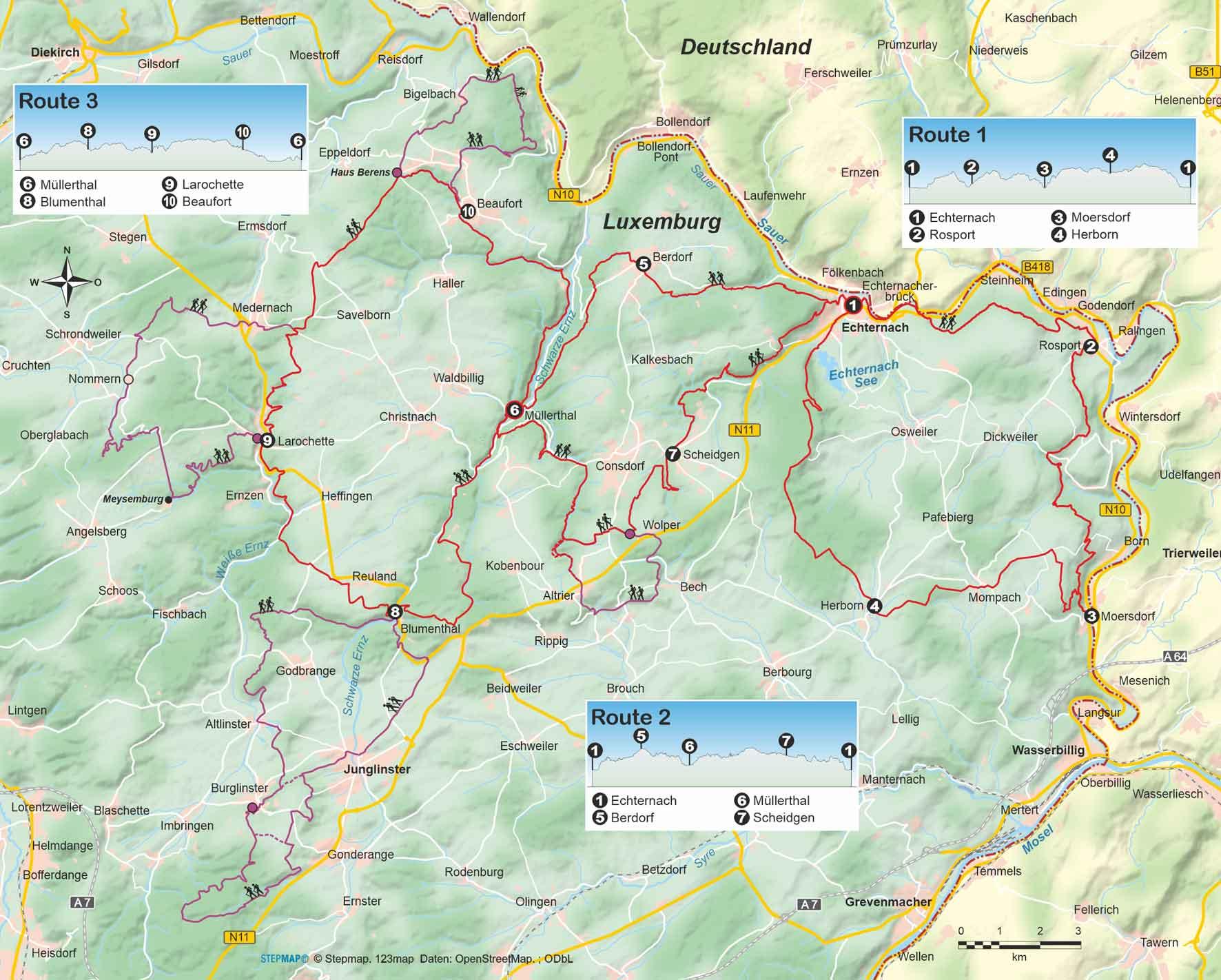Luxemburg: Mullerthal Trail