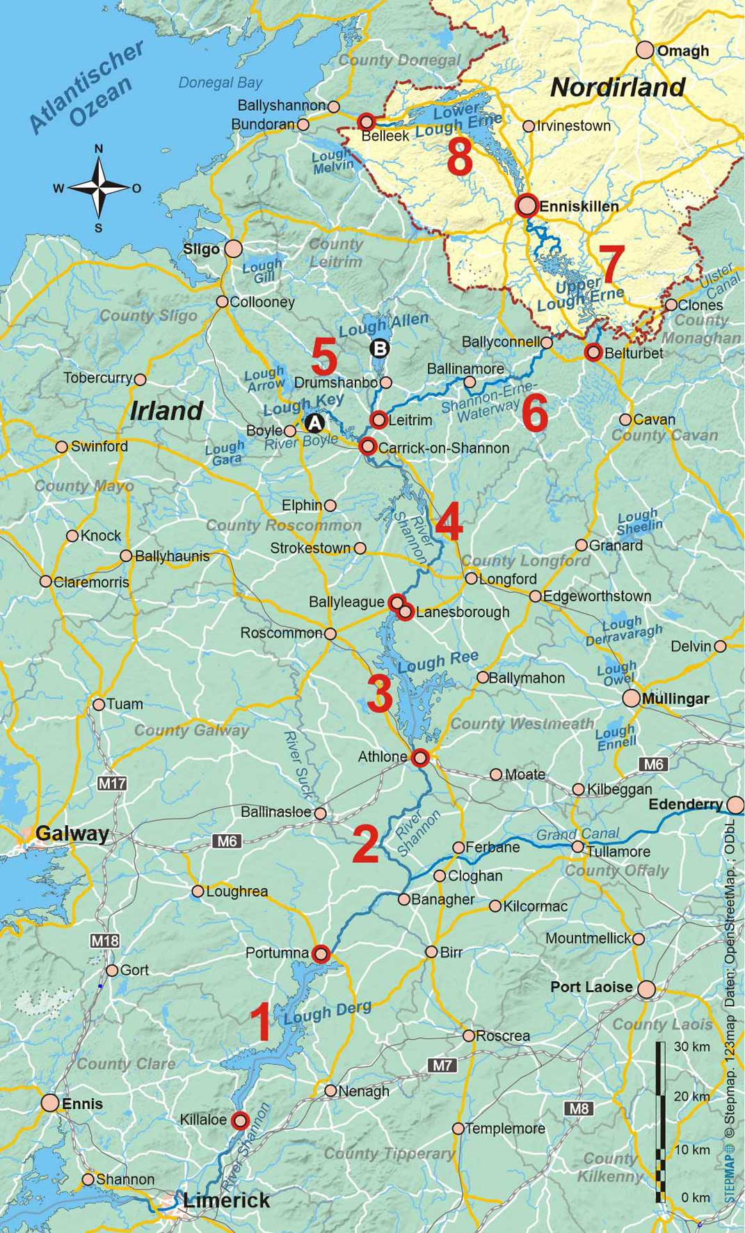 Irland: Shannon-Erne