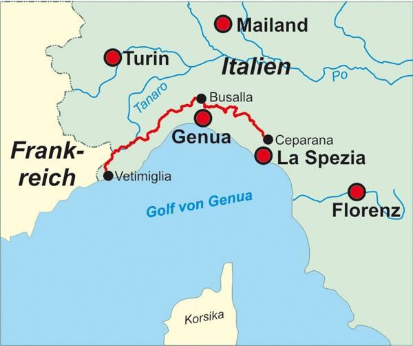 Italien: Ligurischer Höhenweg