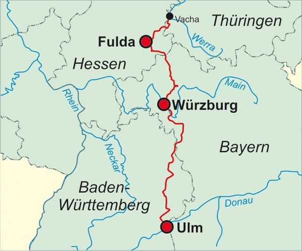 Jakobsweg Franken Karte.Jakobsweg Von Der Rhön An Die Donau