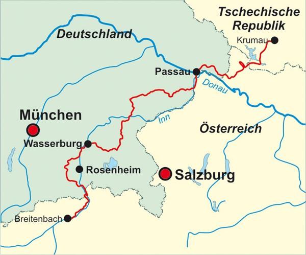 Auf dem Jakobsweg durch Böhmen, das Österreichische Mühlviertel und Südostbayern nach Innsbruck