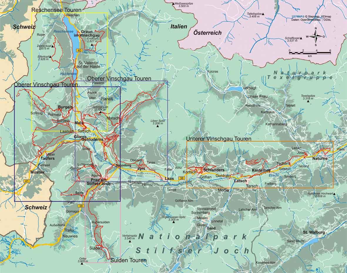 Vinschgau (25 Wanderungen)