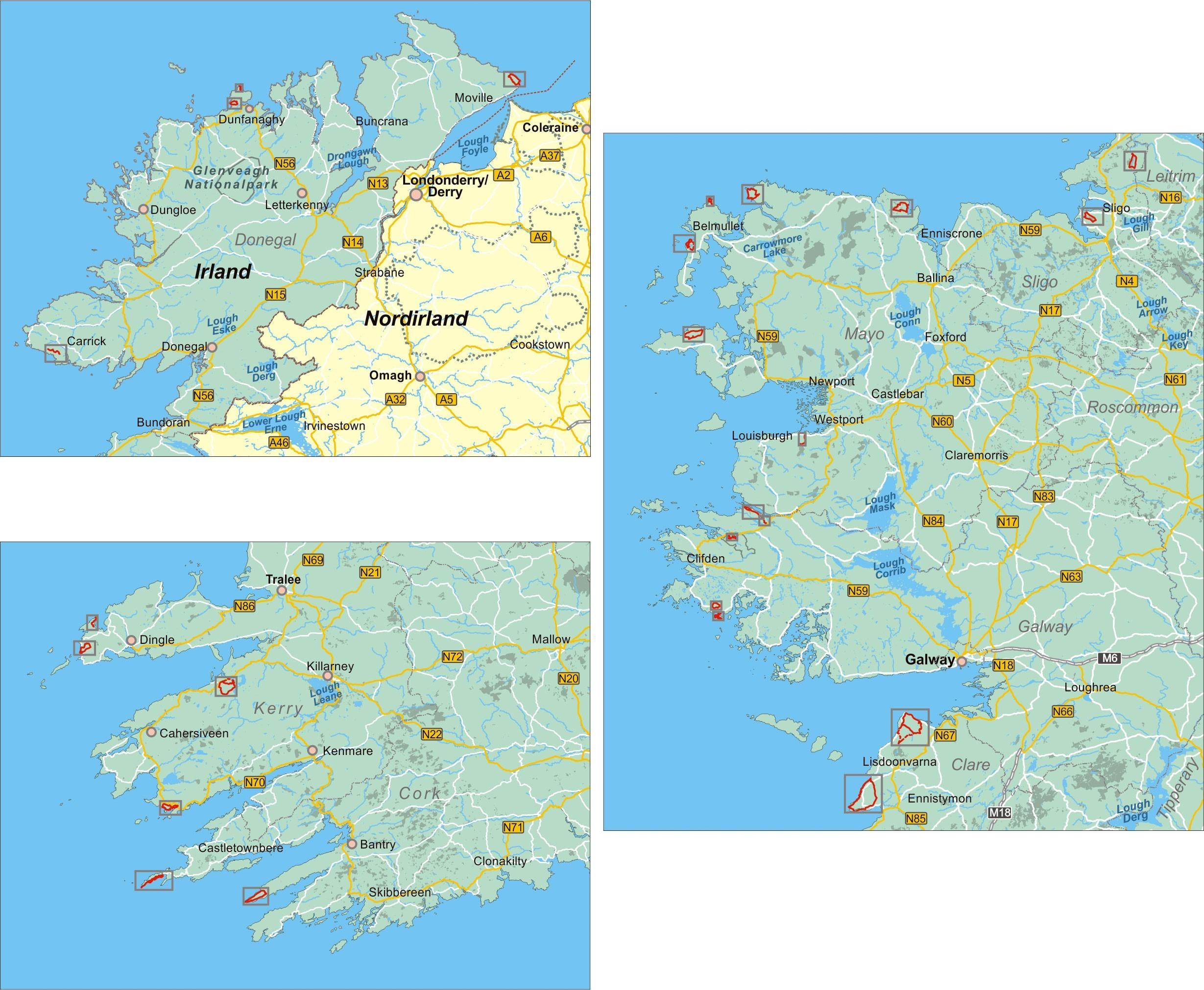 Irlands Westküste (24 Wanderungen)