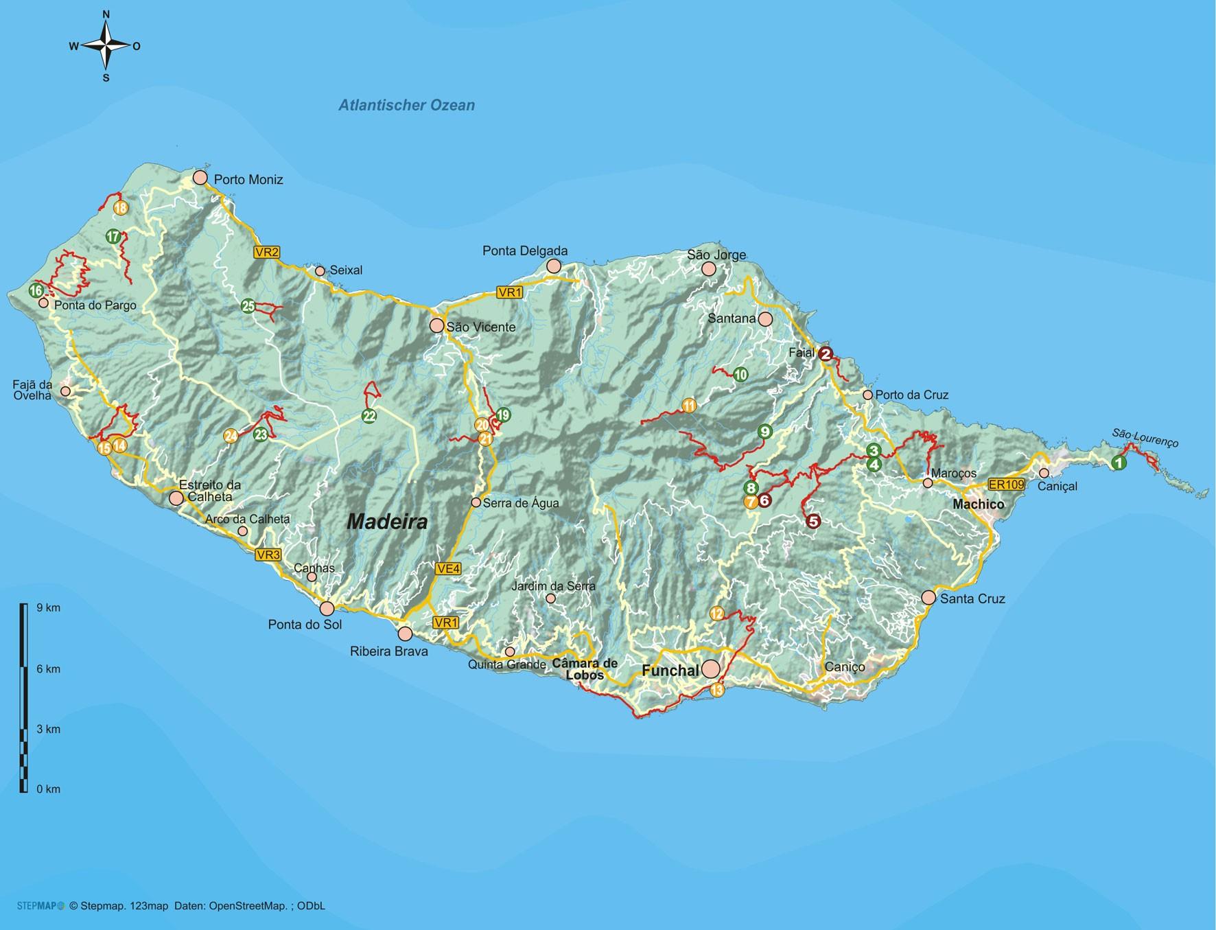 Madeira 25 Wanderungen auf der Blumeninsel