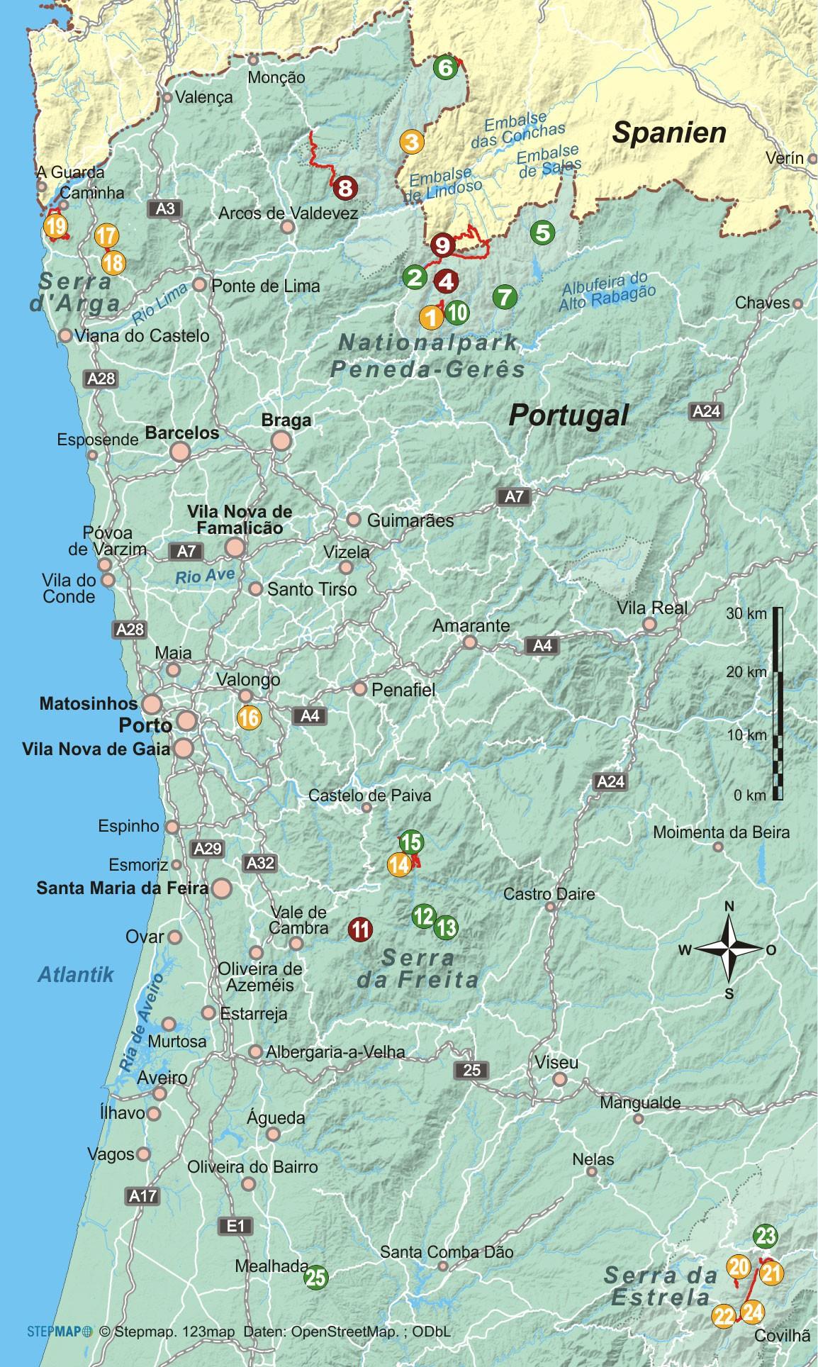 Portugals Norden 25 Wanderungen in wilder Natur