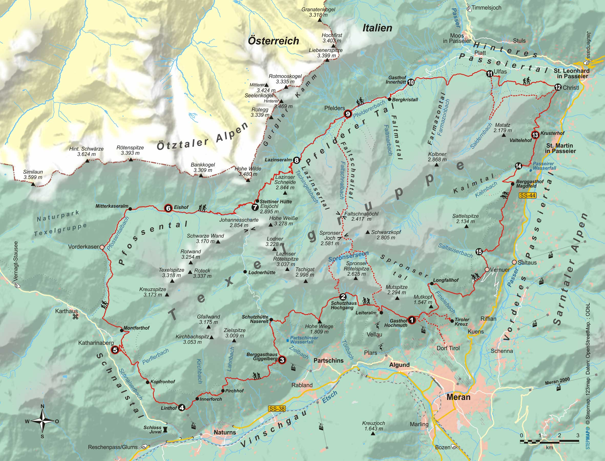 Wanderführer Südtirol: Meraner Höhenweg - Fernwanderweg