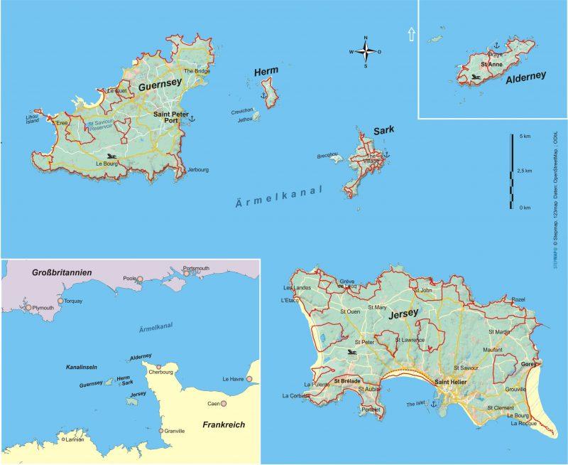 Kanalinseln 31 Wanderungen im Rhythmus der Gezeiten