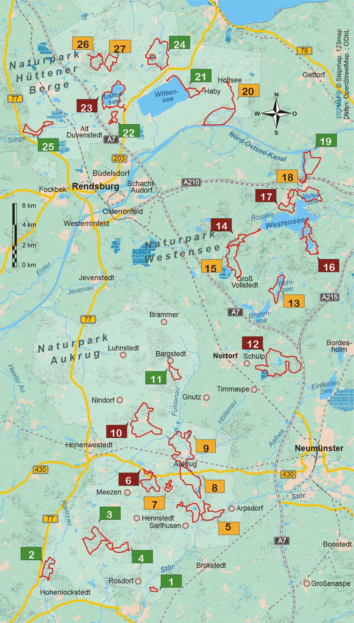 Wanderführer Naturparks Schleswig-Holstein - 27 Tageswanderungen