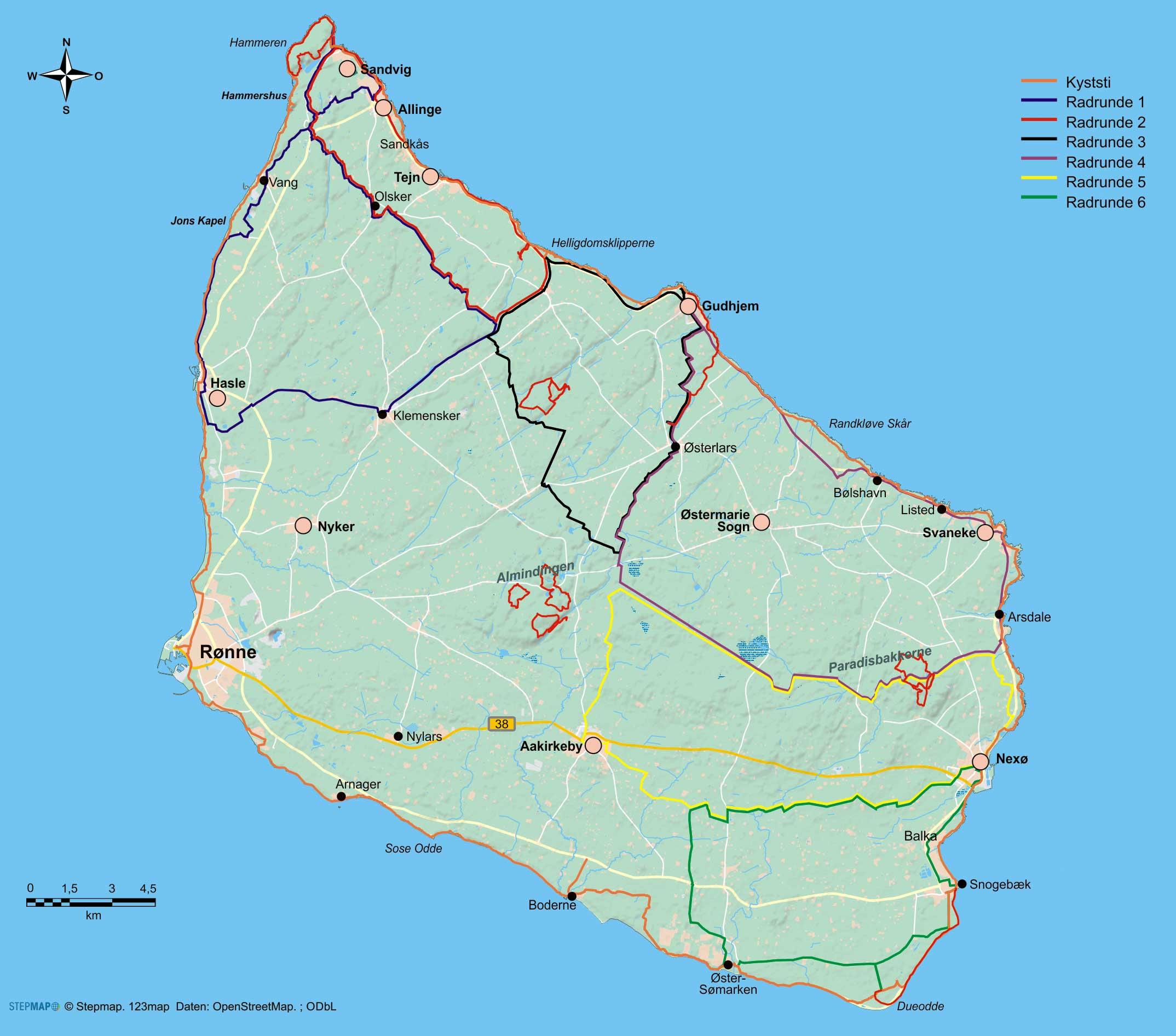 Dänemark:Wander- und Radführer Bornholm