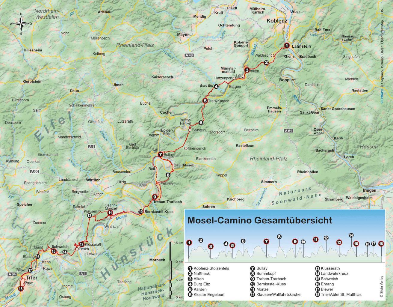 Mosel-Camino von Koblenz nach Trier