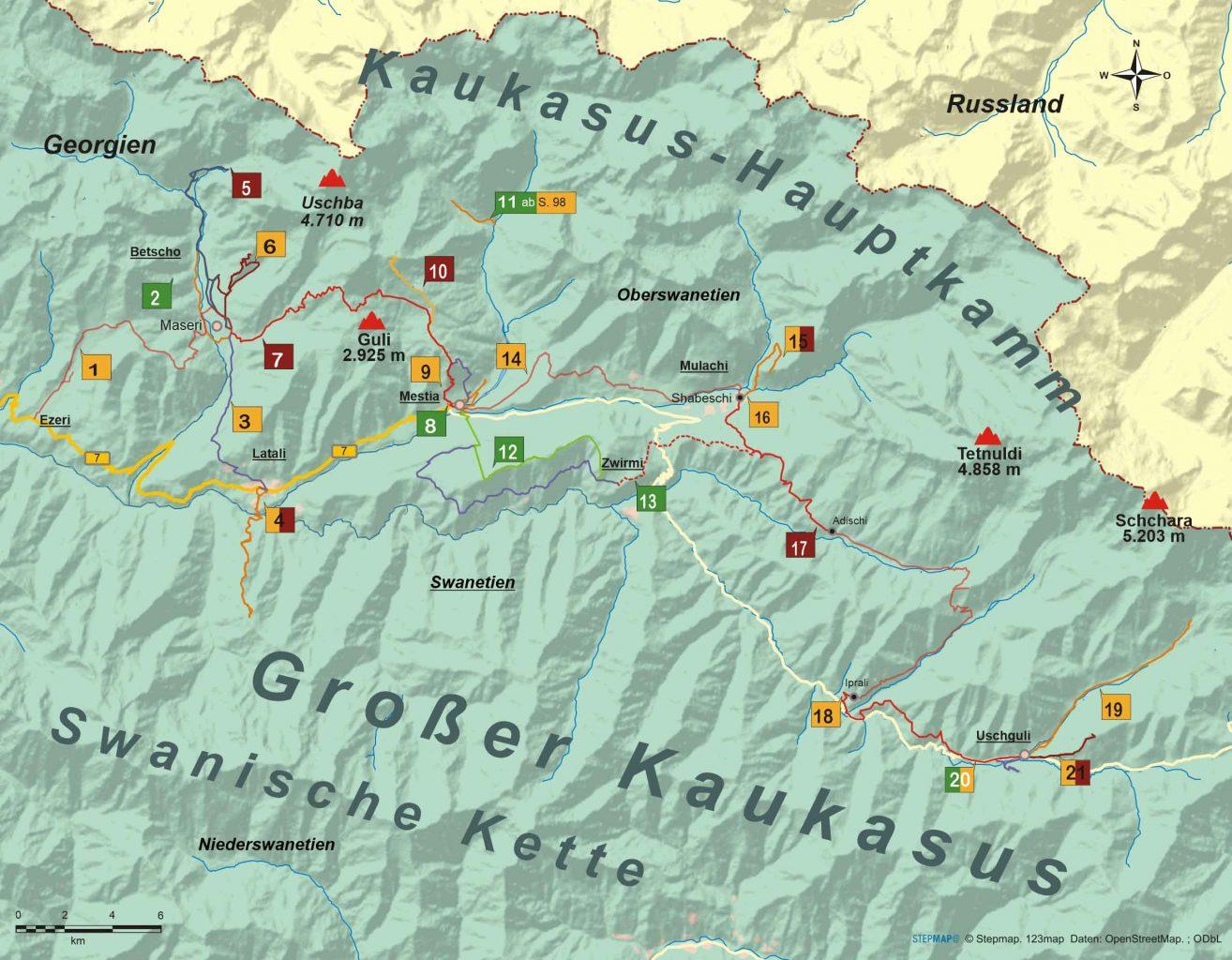 Georgien 21 Wanderungen in Swanetien