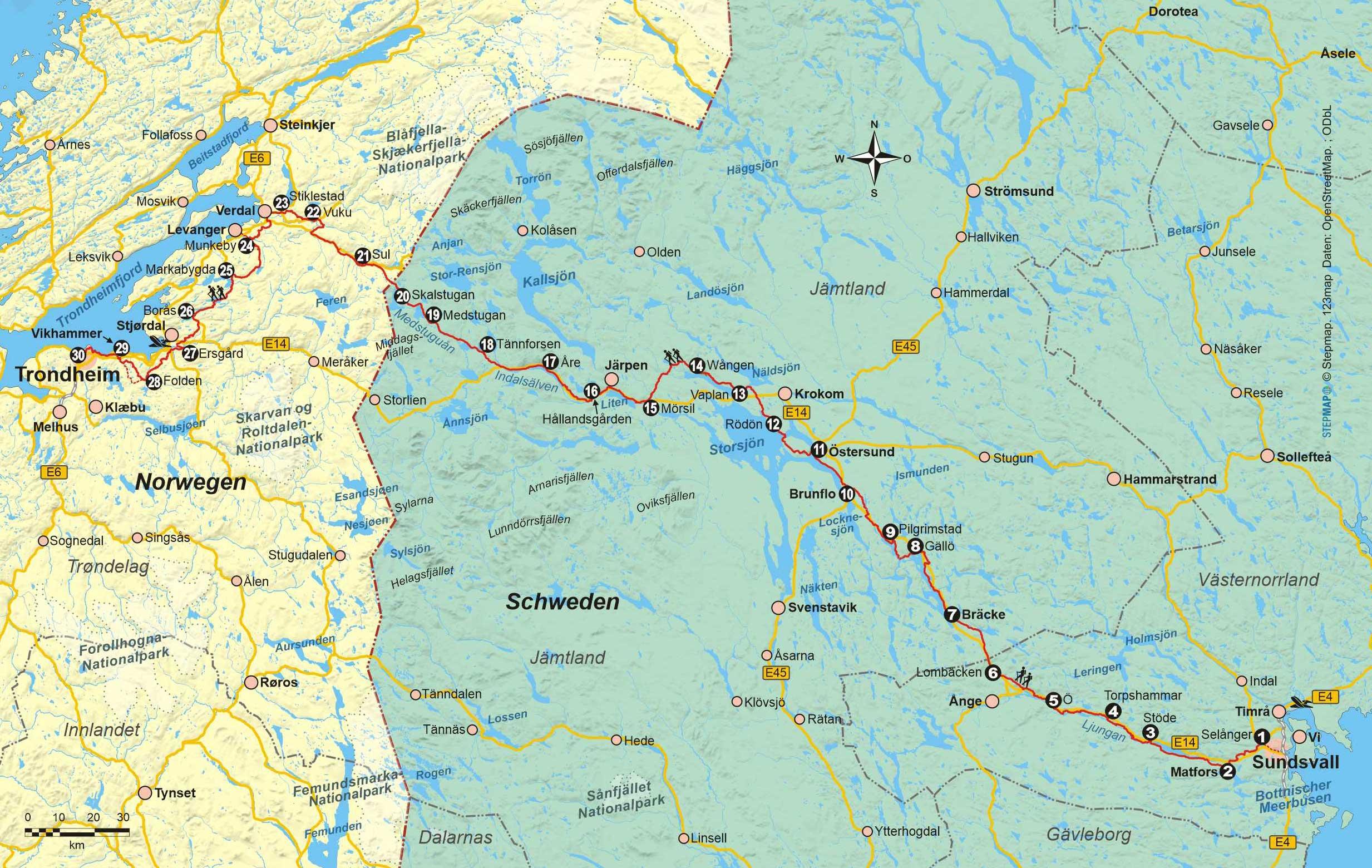 Wanderführer St. Olavsleden - Fernwanderweg