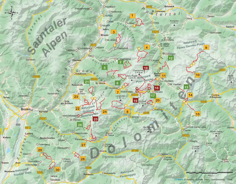 Wanderführer Nordwestliche Dolomiten - 30 Tageswanderungen