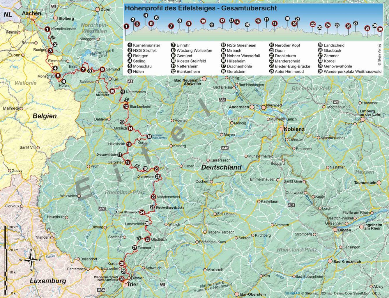 Eifelsteig von Aachen nach Trier